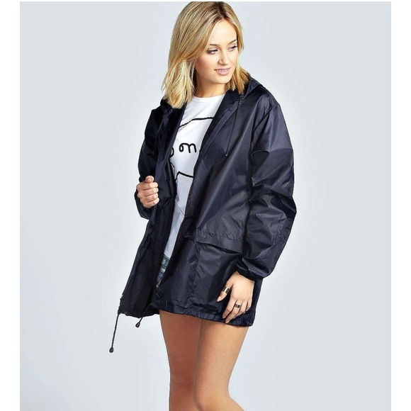 great discount stable quality picked up Black Festival Mac Rain Jacket Boohoo M NWT NWT